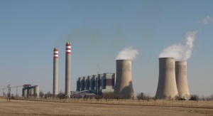 The hills are afire: gas from the UCG plant will be piped to the Majuba Power Station near Volksrust.
