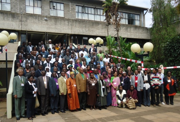 African faith leaders gathered to discuss climate change at UNEP in Nairobi.
