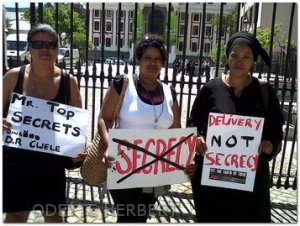 Black Tuesday protest in Cape Town - pic Odette Herbert