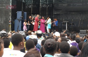 SAFCEI and partners, including Archbishop Desmond Tutu, at the Rally for Climate Justice at COP 17 in Durban